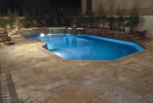 Quality pool spa surrounds provide best seats in the for Swimming pool surrounds design
