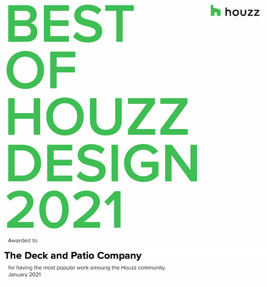 The Deck and Patio Company Awarded Best of Houzz 2021